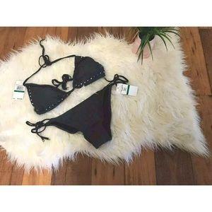 New gunmetal Michael kors bikini swim suit 2 pcs L